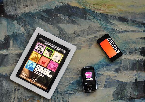 Et udvalg af applikationer (apps) fra en række museer. (Foto: Asger Hunov)
